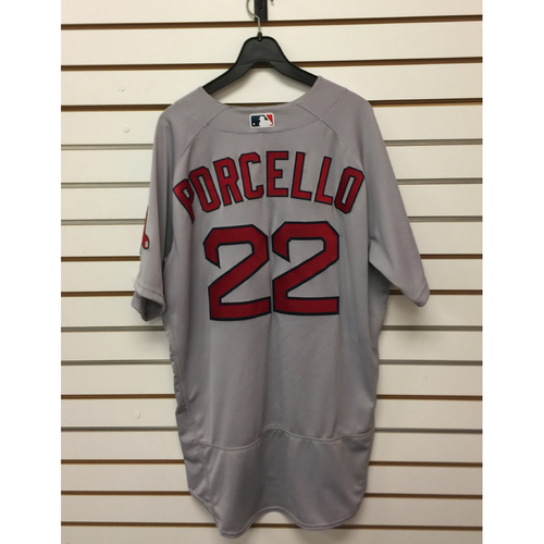 Photo of Rick Porcello Game-Used April 19, 2017 Road Jersey