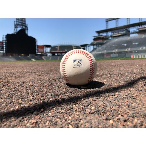 Colorado Rockies Game-Used Baseball - Pitcher: German Marquez v. Batter: David Peralta - Single - June 8, 2018