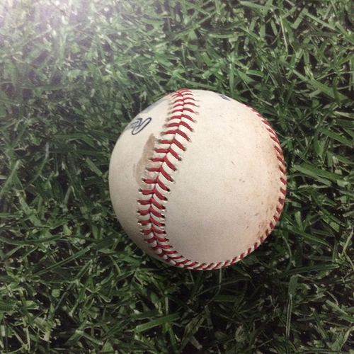 Photo of Game-Used Baseball LAD@MIL  07/20/18 - Taylor Williams - Manny Machado: Ball (Machado's Dodgers Debut)