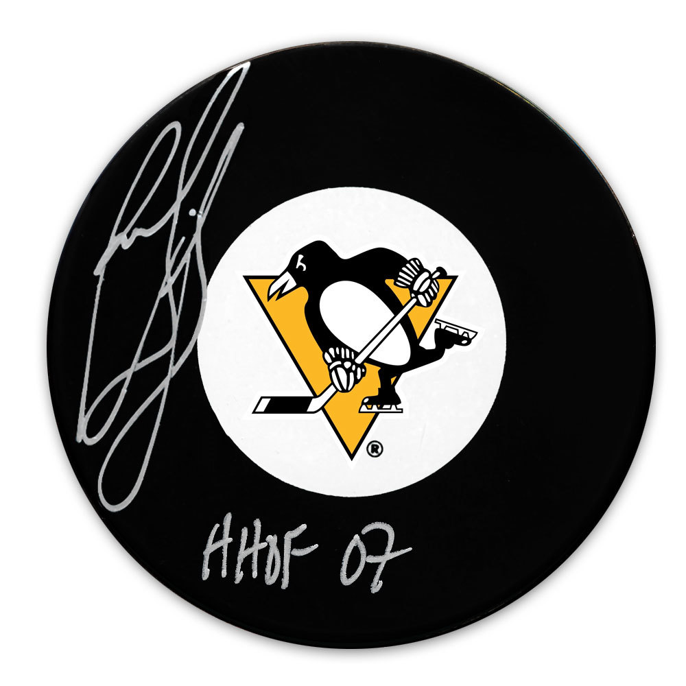 Ron Francis Pittsburgh Penguins HOF Autographed Puck