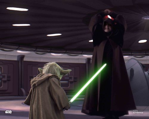 Emperor Palpatine and Yoda