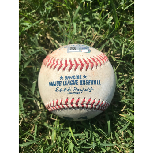 Photo of Cardinals Authentics: Game-Used Baseball Pitched by Dominic Leone to Manny Machado, Max Muncy, and Yasmani Grandal *Double Play, Single 1 RBI, Ball*
