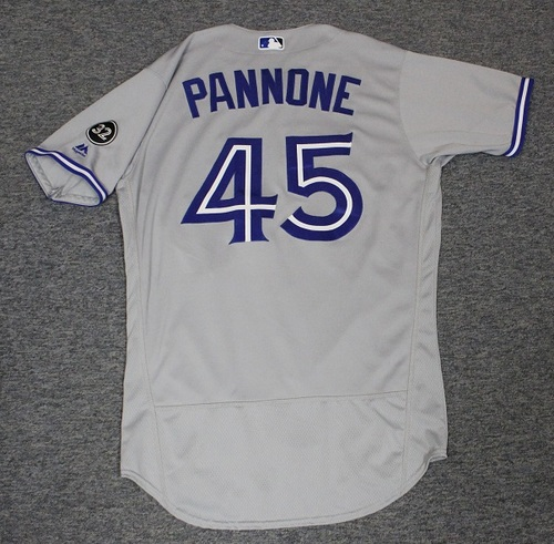 Authenticated Game Used Jersey - #45 Thomas Pannone (Sept 17, 2018. Sept 28, 2018: 5.1 IP, 7 Hits, 5 ER, 3 BB, 3 Ks). Size 44. Rookie Season.
