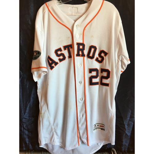 sale retailer 15540 a39ca MLB Auctions | Josh Reddick Game-Used 2018 Postseason jersey