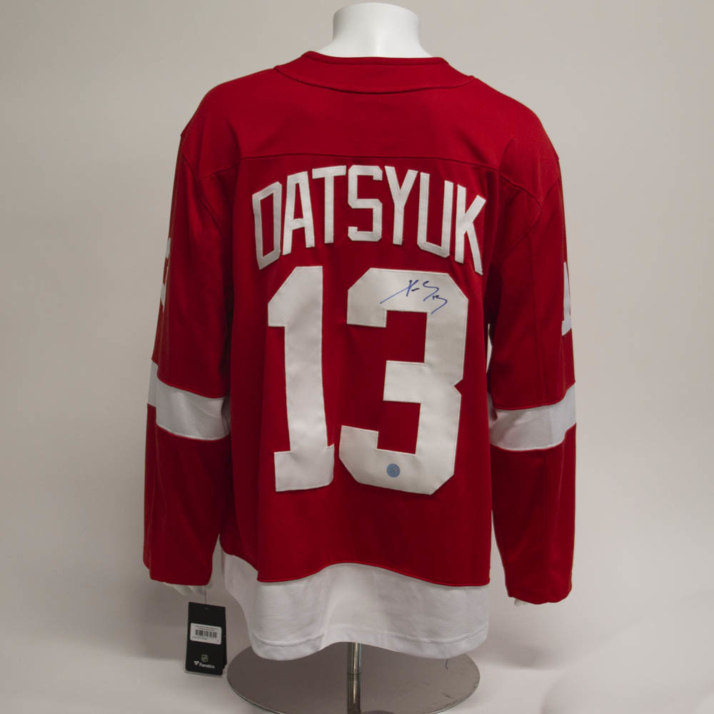 new concept 39dfa 8af38 Pavel Datsyuk Detroit Red Wings Autographed Fanatics Hockey ...
