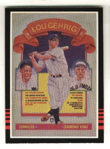 Photo of 1985 Donruss #635 Lou Gehrig/Puzzle Card