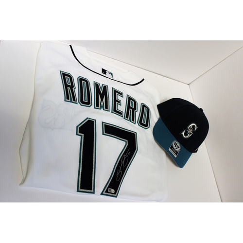 Photo of Mariners Care: Stefen Romero Autographed Jersey with Cap