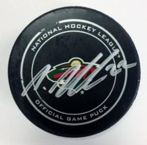 Minnesota Wild #22 Nino Niederreiter Game Used Goal Puck Feb. 4, 2014 vs. Lightning