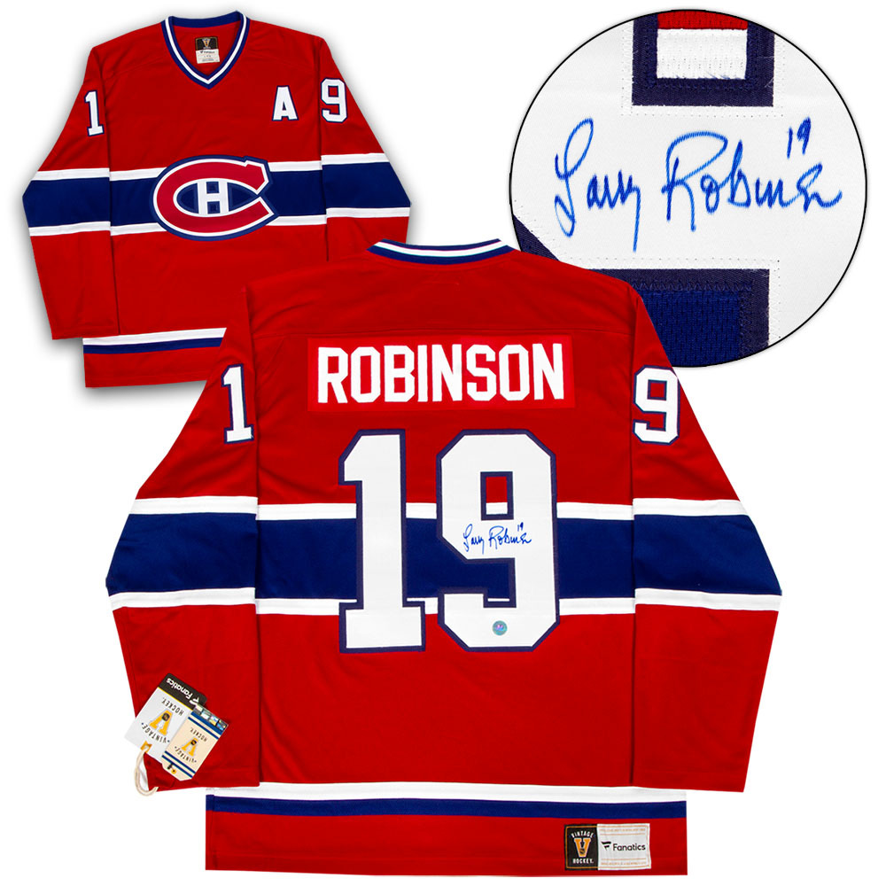 Larry Robinson Montreal Canadiens Autographed Fanatics Vintage Hockey Jersey