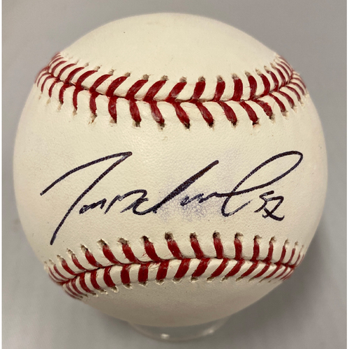 Photo of Giants Community Fund - Smudged Autographed Baseball signed by #57 Dereck Rodriguez