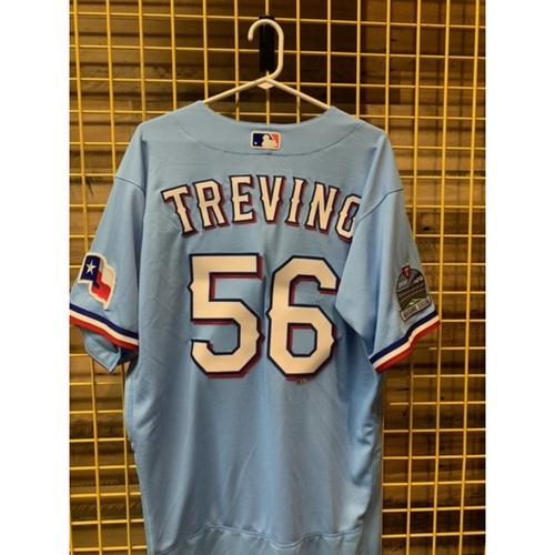 Photo of Team-Issued Jose Trevino Powder Blue Jersey