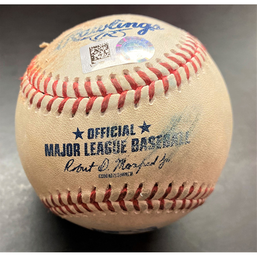 Photo of Game-Used Baseball:  Robbie Grossman Detroit Tigers Double (MLB AUTHENTICATED)