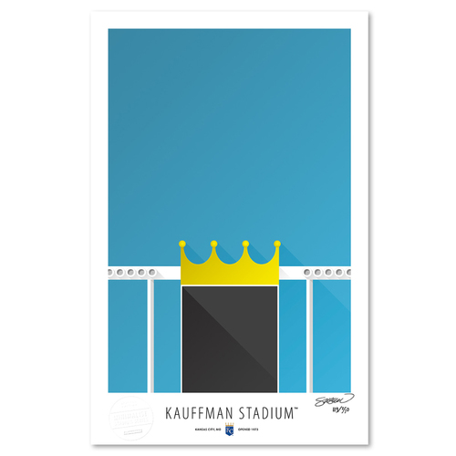 Photo of Kauffman Stadium - Collector's Edition Minimalist Art Print by S. Preston Limited Edition /350  - Kansas City Royals