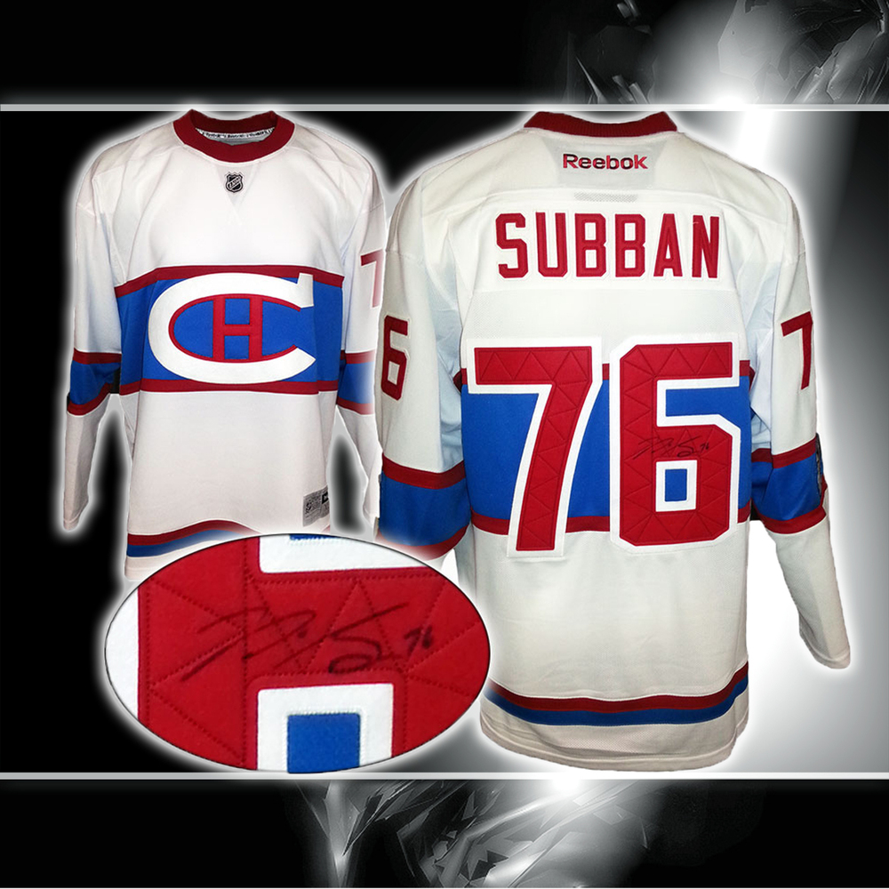 newest 367aa b2543 P.K. Subban Montreal Canadiens Winter Classic Autographed ...
