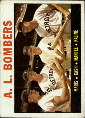 Photo of 1964 Topps #331 AL Bombers/Roger Maris/Norm Cash/Mickey Mantle/Al Kaline