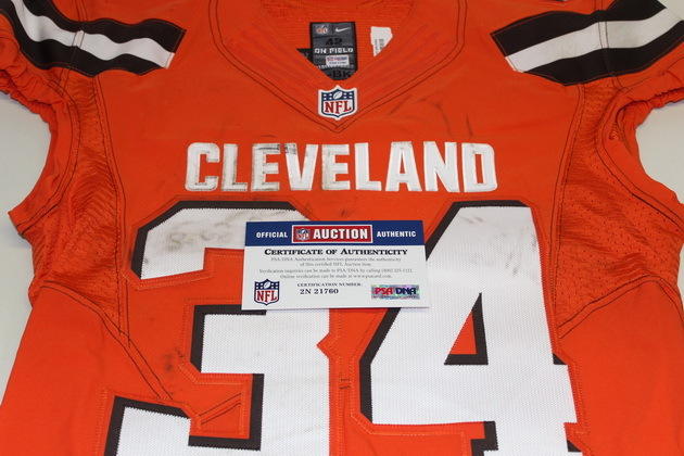 NFL Auction   STS - BROWNS ISAIAH CROWELL GAME WORN BROWNS JERSEY ...