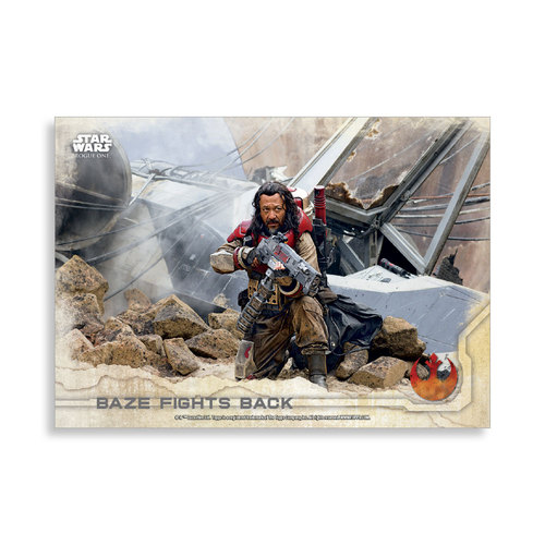 Baze fights back 2016 Star Wars Rogue One Series One Base Poster - # to 99