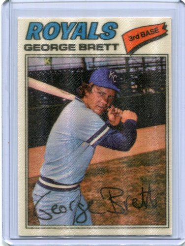 Photo of 1977 Topps Cloth Stickers #7 George Brett