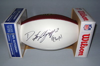 NFL - CHIEFS DUSTIN COLQUITT SIGNED PANEL BALL