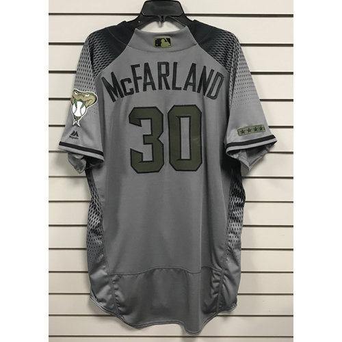 Photo of TJ McFarland Game-Used Memorial Day Jersey