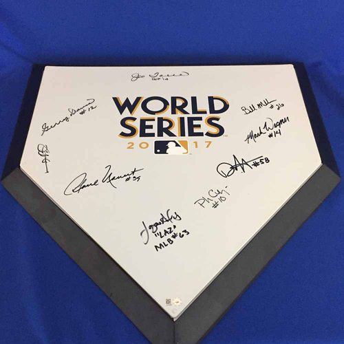 Photo of UMPS CARE AUCTION: 2017 MLB World Series Crew Signed Home Plate