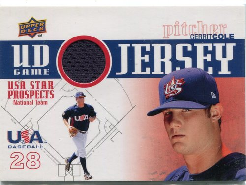 Photo of 2009 Upper Deck Signature Stars USA Star Prospects Jerseys #25 Gerrit Cole