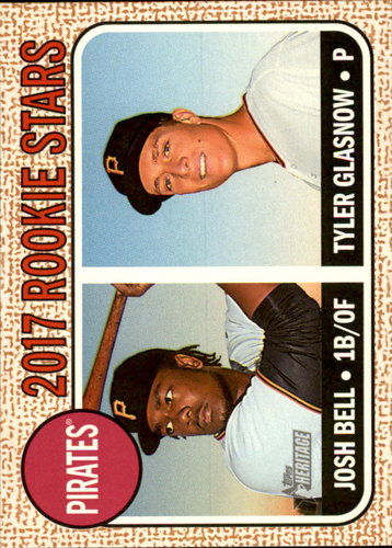 Photo of 2017 Topps Heritage #36 Josh Bell RC/Tyler Glasnow Rookie Card