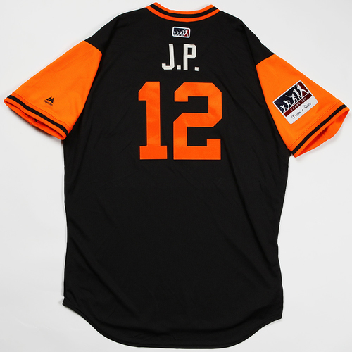 "Photo of Joe ""J.P."" Panik San Francisco Giants Game-Used 2018 Players' Weekend Jersey"