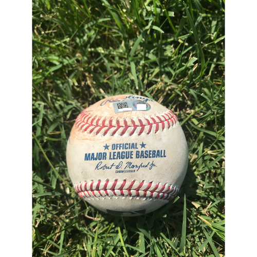 Photo of Cardinals Authentics: Game-Used Baseball Pitched by Rich Hill to Jedd Gyorko and Patrick Wisdom *Strikeout, Single*