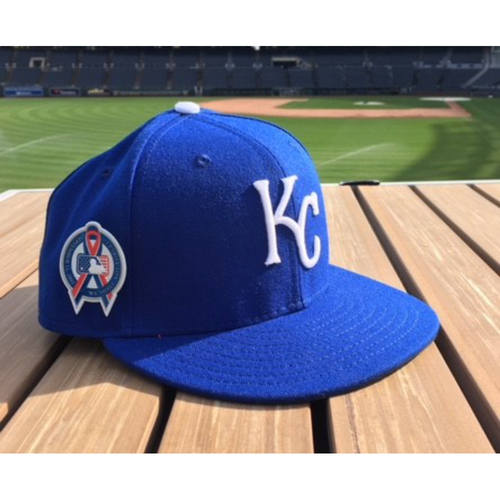 Photo of Salvador Perez Game-Used Armed Forces Night Cap