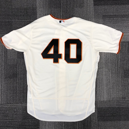 Photo of San Francisco Giants - 2018 Holiday Deal! - 2017 Team Issued Home Jersey - #40 Madison Bumgarner - Size 50