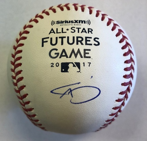 Photo of Triston McKenzie Autographed 2017 Futures Logo Baseball