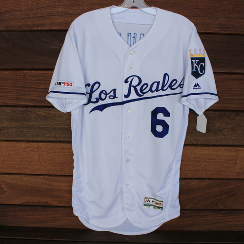Photo of Game-Used Los Reales Jersey: Billy Hamilton (Size 40 - MIN @ KC - 6/21/19)