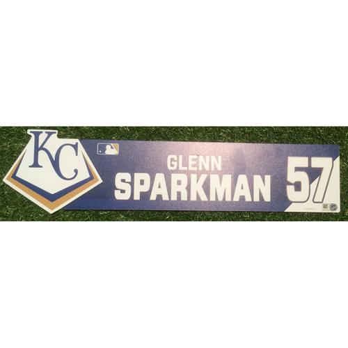 Photo of Team-Issued Locker Tag: Glenn Sparkman