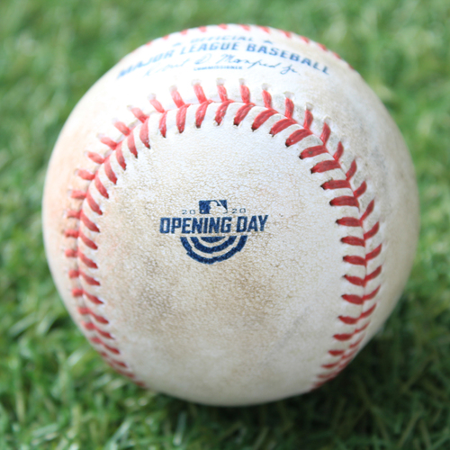 Photo of Game-Used Opening Day Baseball: Batter - Soler, Pitcher - Keuchel, GO to 3B, Bottom 2 (7/31/20 CWS @ KC)