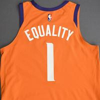 Devin Booker - Phoenix Suns - Game-Worn Statement Edition Jersey - Worn 2 Games - Scored 27 and 30 Points - 2019-20 NBA Season Restart with Social Justice Message