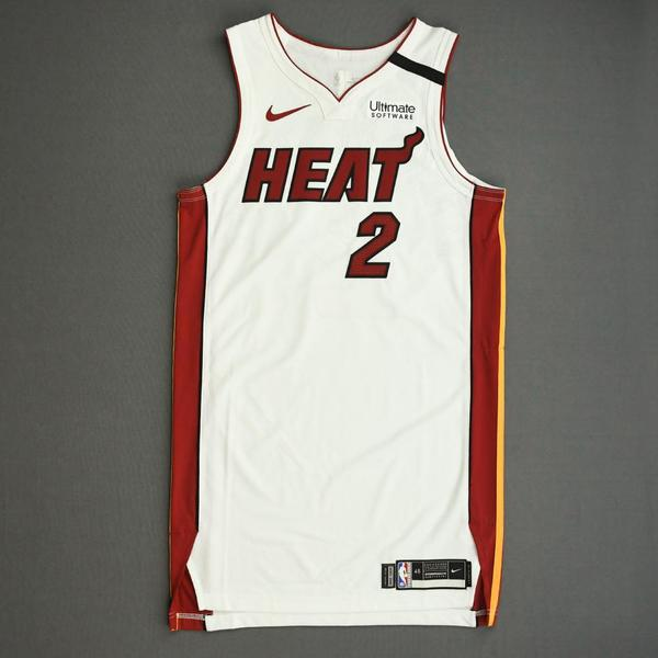 Image of Gabe Vincent - Miami Heat - Game-Issued Association Edition Jersey - 2019-20 NBA Season Restart with Social Justice Message