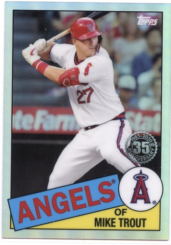 Photo of 2020 Topps Chrome '85 Topps #85TC1 Mike Trout