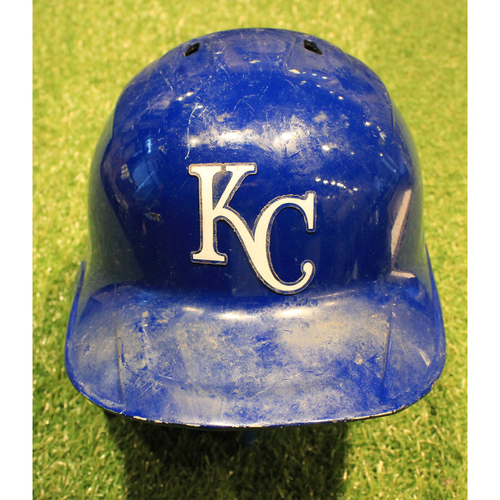 Photo of Game-Used Helmet: Adalberto Mondesi #27 (Lefty) (DET @ KC 9/26/20)