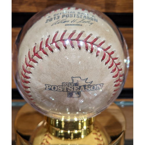Photo of 2013 ALCS Game 1 October 12, 2013 Red Sox vs. Tigers Game Used Baseball - Anibal Sanchez to Mike Napoli