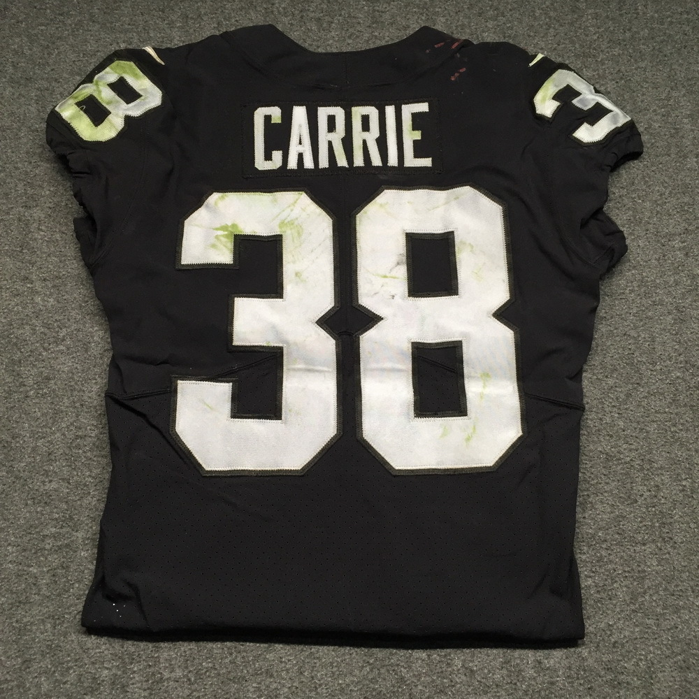 NFL Auction   NFL - Raiders T.J. Carrie Game Worn Jersey Mexico ...