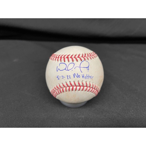 Photo of Wade Miley No-Hitter - *Autographed Game-Used Baseball* - Bot 3 - Wade Miley to Austin Hedges (Foul) - Inscribed as 5-7-21 No Hitter