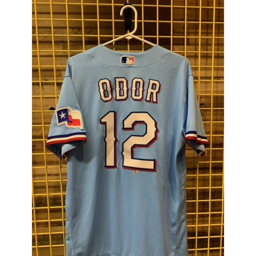 Photo of Team-Issued Rougned Odor Powder Blue Jersey