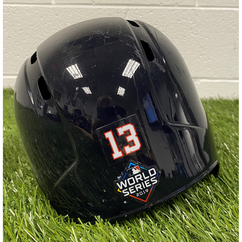 Photo of Asdrubal Cabrera Helmet with World Series Decal