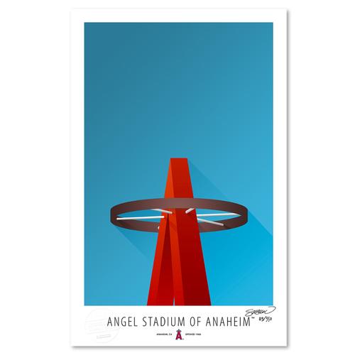 Photo of Angel Stadium - Collector's Edition Minimalist Art Print by S. Preston Limited Edition /350  - Anaheim Angels