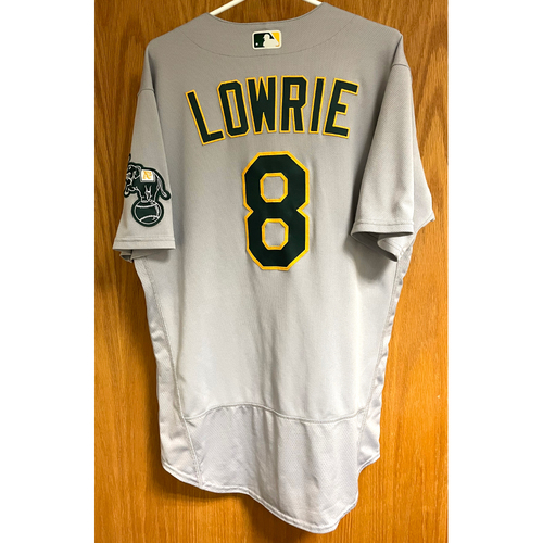 Photo of Game-Used Jersey - Jed Lowrie (Authenticated for 6 games, HR #1, 2, 3, 4 & 5)