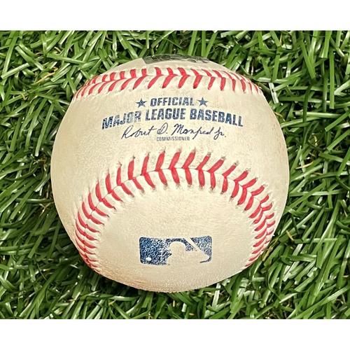 Photo of Game Used Baseball: Bobby Dalbec RBI single off Josh Fleming - Hunter Renfroe Scores - Bobby Dalbec Rookie Season - Top 4 - July 30, 2021 v BOS