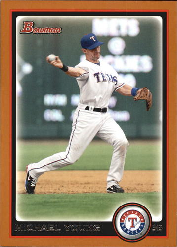Photo of 2010 Bowman Orange #76 Michael Young