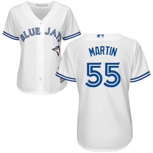 Toronto Blue Jays Women's Russell Martin Replica Home Jersey by Majestic