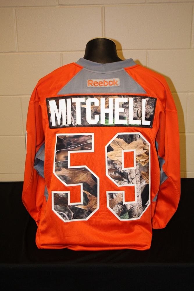 new arrival cc83f 4cd34 MN Wild #59 Zach Mitchell Signed, Player Worn Blaze Orange ...